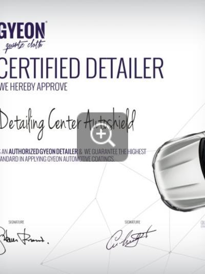 Сертификат Gyeon